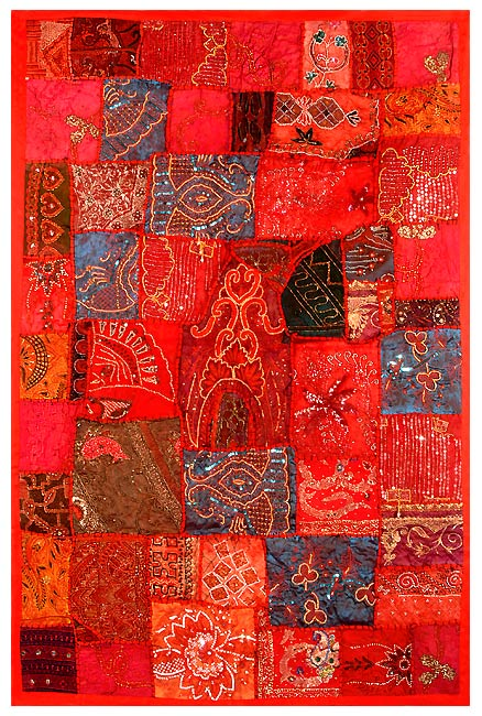 Red Sapphire - Patchwork Tapestry