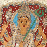 Goddess Sherawali Ma - Cotton Kalamkari Painting 76""