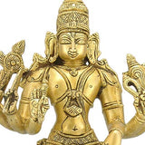 "One Who Protects World ""Lord Vishnu"" Brass Statue"