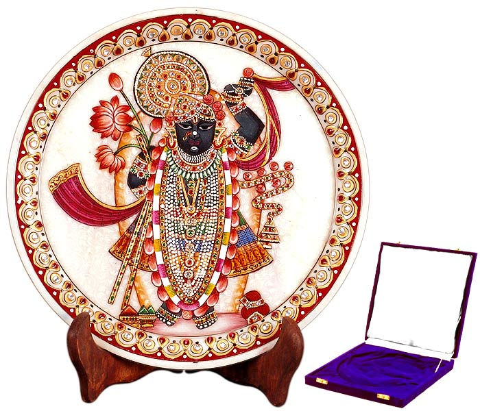 Lord Srinathji - Marble Painting