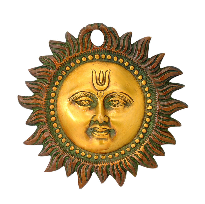 Brass Sun Wall Hanging Mask