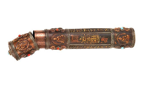 Tibbetan Incense Container II 8.5""