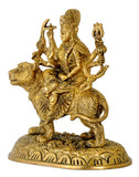 Goddess Durga Sculpture in Brass