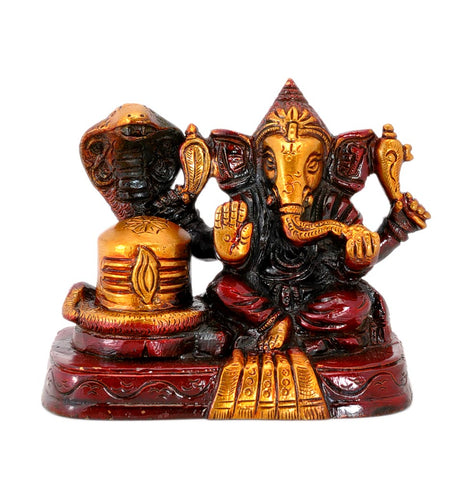 Lord Ganesha with Shivling