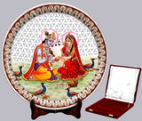 Mesmerized Radha Became Senseless - Marble Saucer