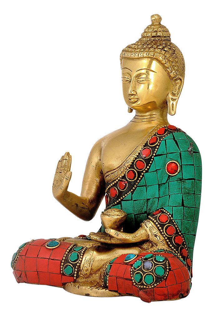 Buddha with Mosaic Work for Home Decor