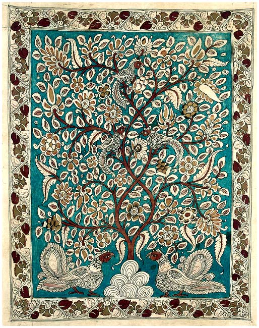 Tree of Joy - Handmade Kalamkari Painting