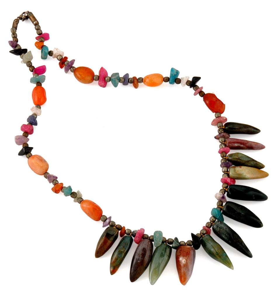 Gem Stone Necklace 'Tribal Beats'