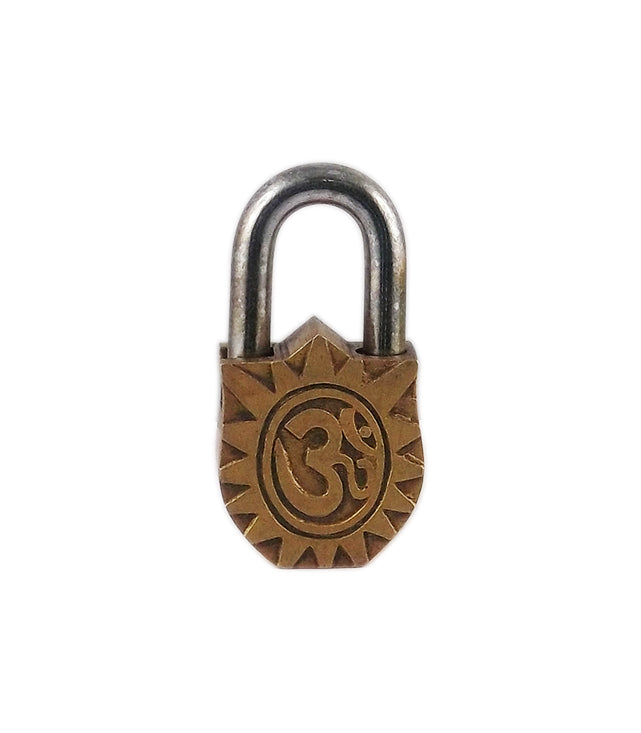 Decorative Brass Lock - Lord Radhe Krishna