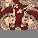 Royal Horses - Kalamkari Painting