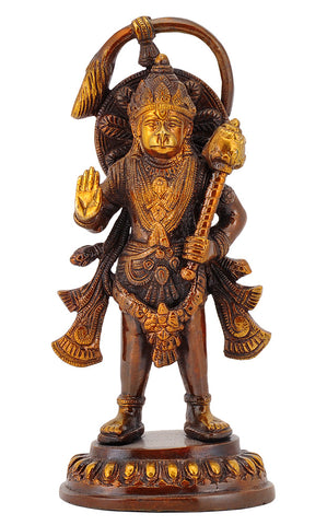 Blessing Hanuman Ji Brass Figure
