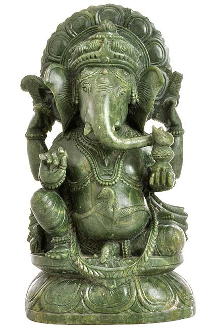First Among All Deities 'Lord Ganesh' Stone Statue