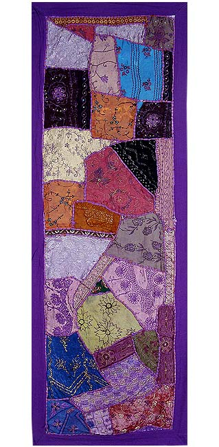 Night at the Fair - Embroidered Wall Hanging
