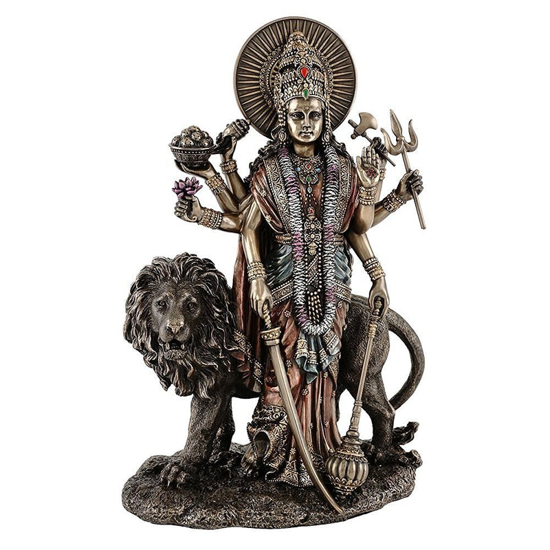 Hindu Divine Mother Goddess Durga with Lion - Fine Quality Limited Edition Statue