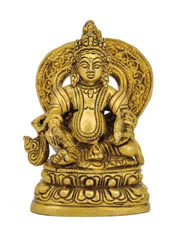 Lord Kuber Small Statue in Brass 3.50""