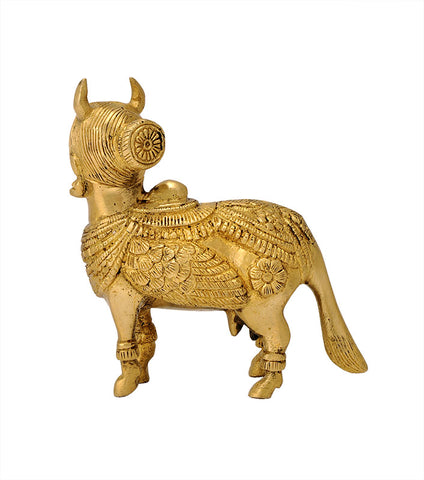 Small Kamadhenu Cow in Brass 4""