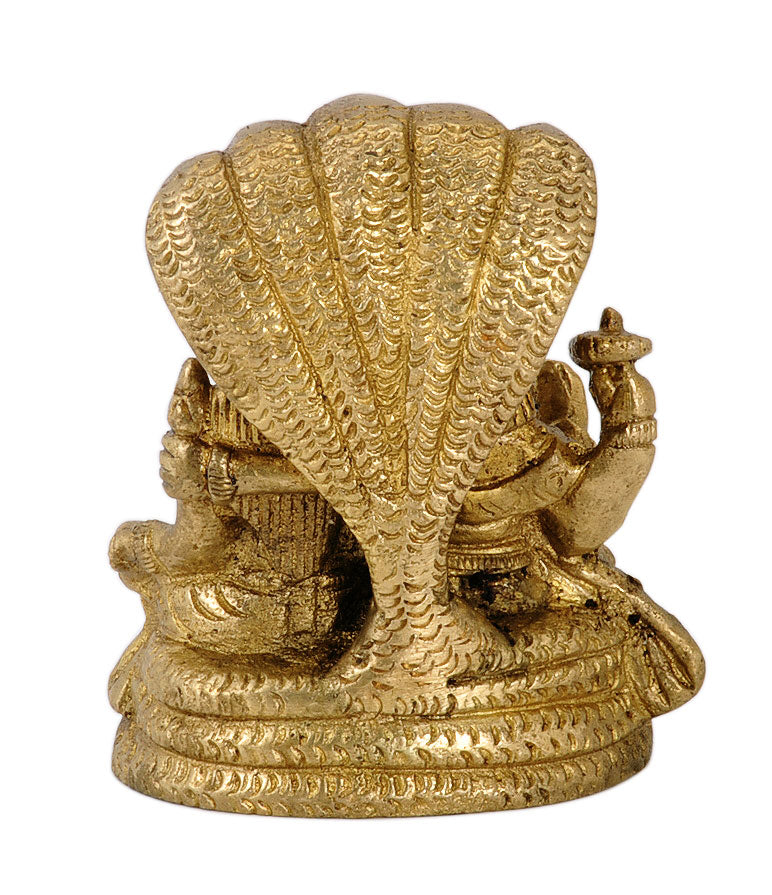 Vishnu Lakshmi Seated on Sheshnaga