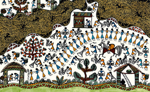Marriage Celebration - Warli Painting