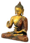 Brass Medicine Buddha with Golden Copper Finish