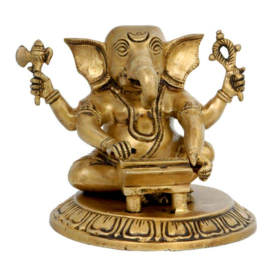 Lord Ganesha with Harmonium