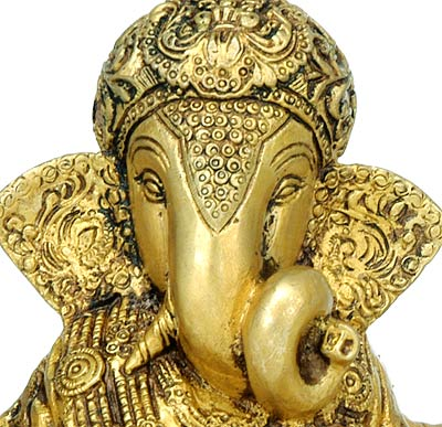 God of Good Luck 'Lord Ganesha' Brass Sculpture