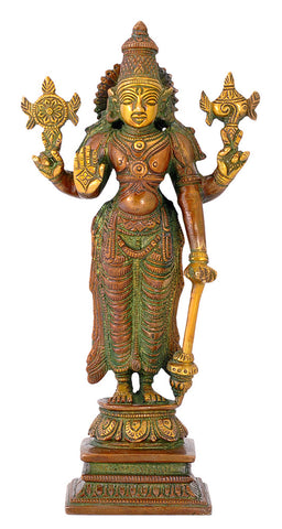 Lord Satya Narayan - Brass Figure 8""