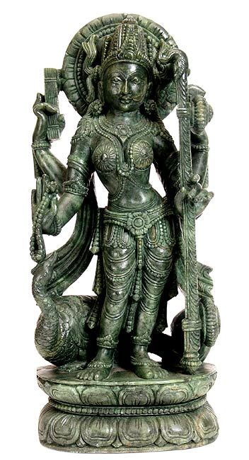 Goddess Saraswati - Stone Sculpture
