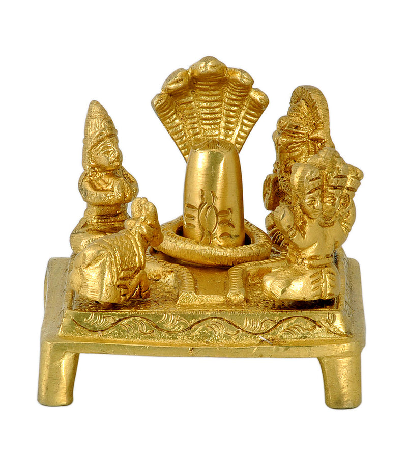 Brass Shiva Parivar for Abhishekam