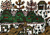 Folk Art Painting 'Warli Town'