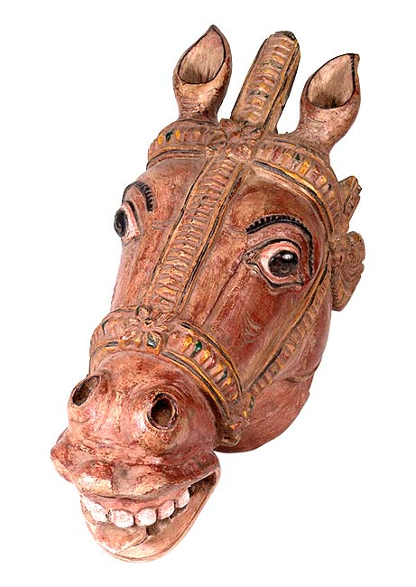 Ancient Horse - Wood Statue
