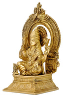 Devi Lakshmi Figurine with Beautiful Aureole