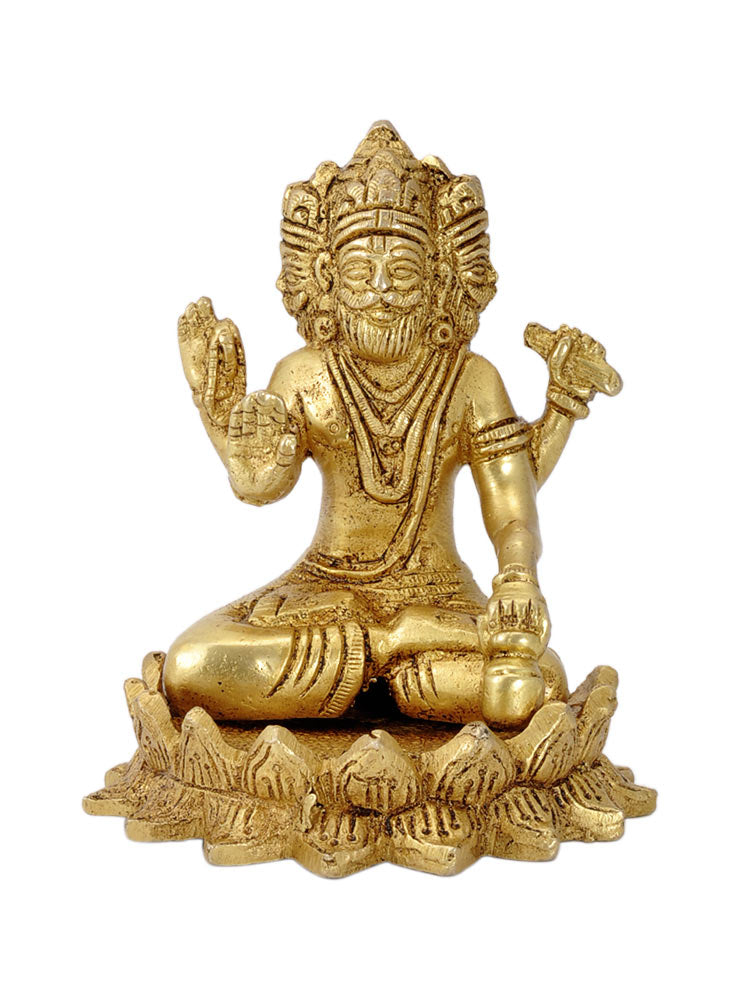 'Lord Brahma' Creater of Universe - Brass Statue