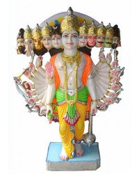 Lord Krishna in Virat Rupa-Marble Sculpture 48""