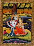 Divine Love In Vrindavan Painting
