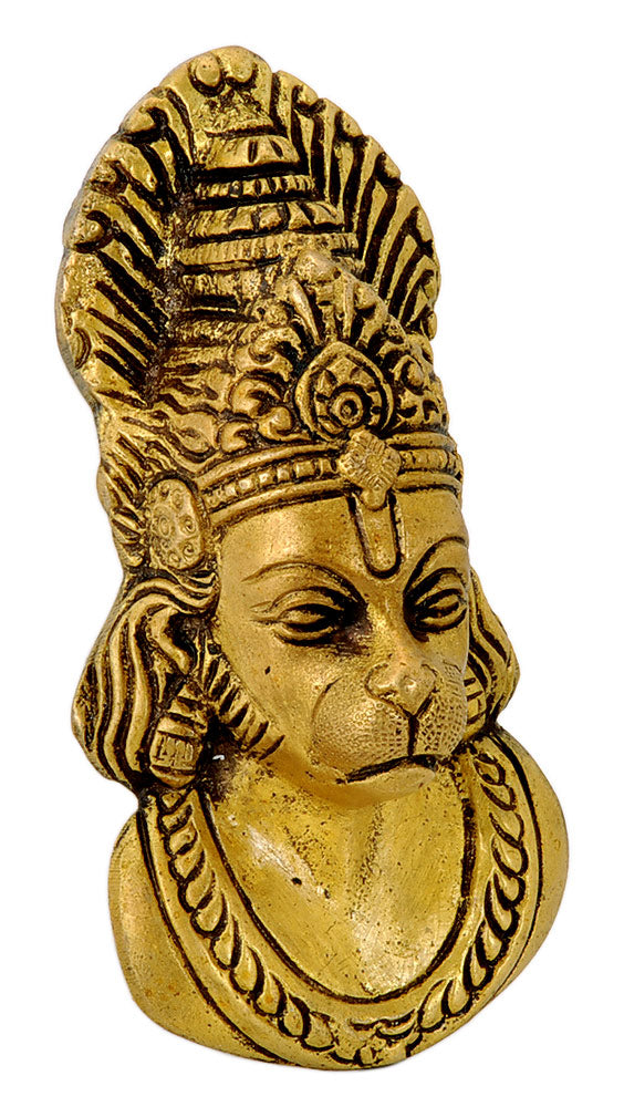 Lord Hanuman Brass Mask