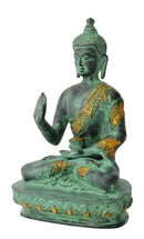 Blessing Buddha Antiquated Brass Statue