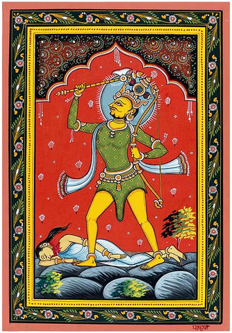 """Lord Parashuram"" Vishnu Dashavtar Patachitra Painting"