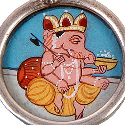 Sri Ganpati Maharaj - Hand Painted Ear Rings