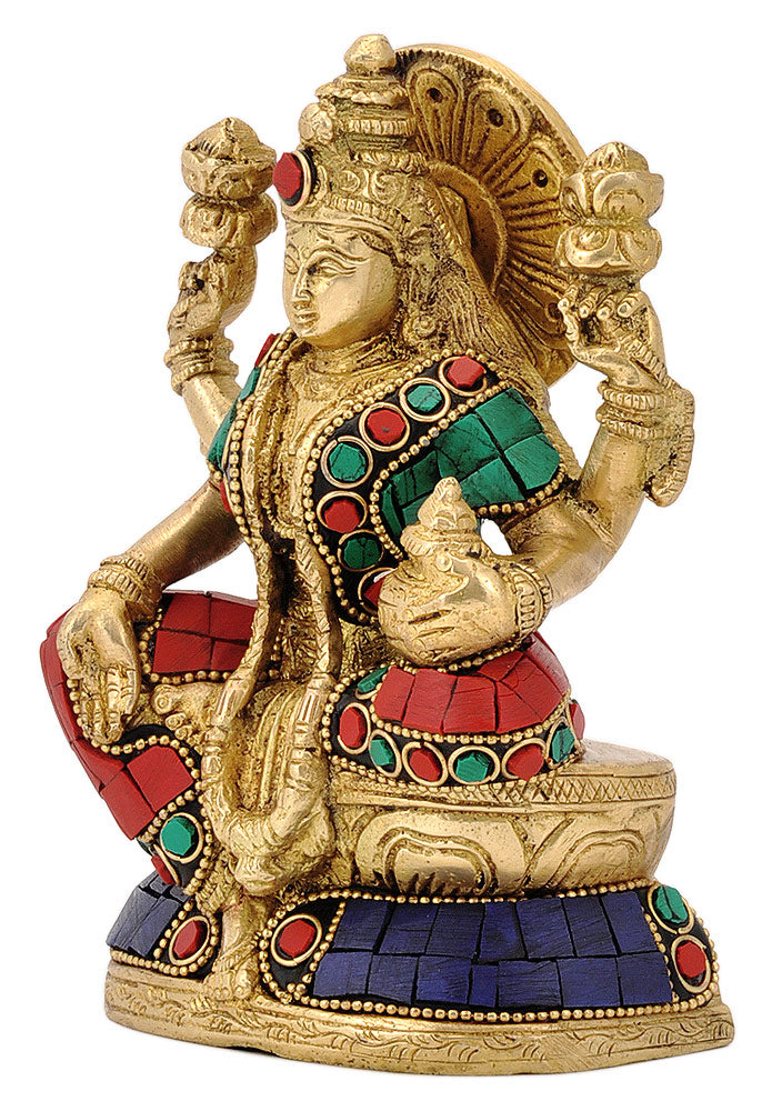 Seated Devi Lakshmi with Pot of Wealth