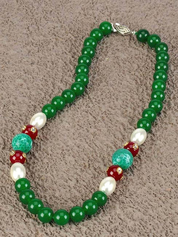 Gemstone Necklace - Mint Goddess