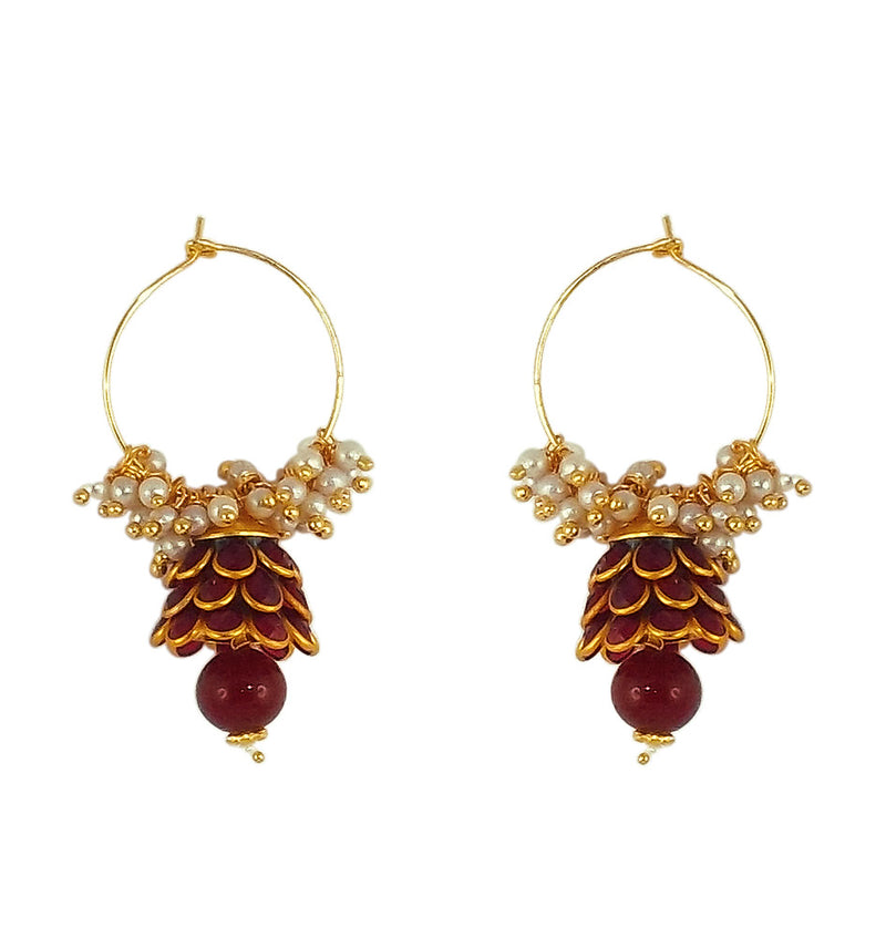 Traditional Indian Style Bali Jhumki Earrings for Womens