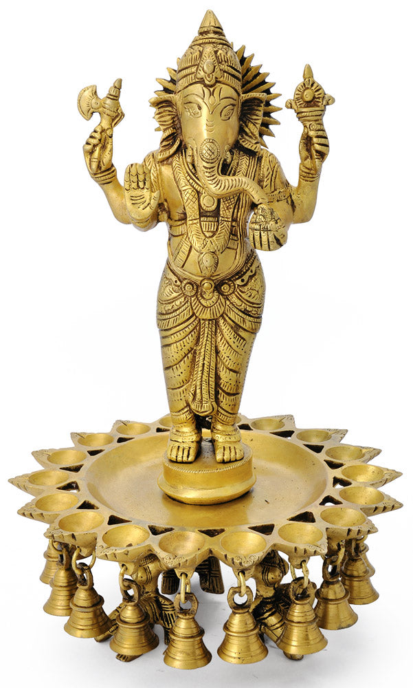 Lamp with Ganesha Figure