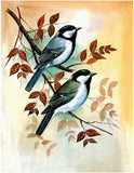 """Birds"" Silk Painting - I"