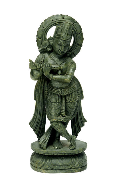Bachelor Krishna-Handcarved Stone Sculpture