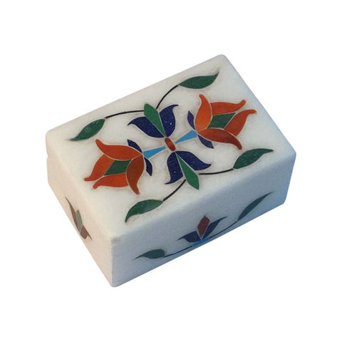 Stone Box with Floral Inlay