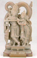 Immortal Love Radha Gopal - Stone Sculpture