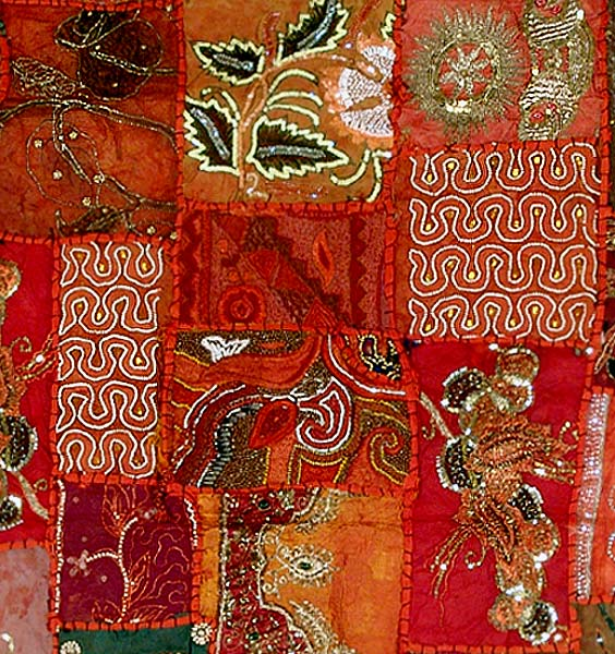 Saree Tapestry-Autumn Song