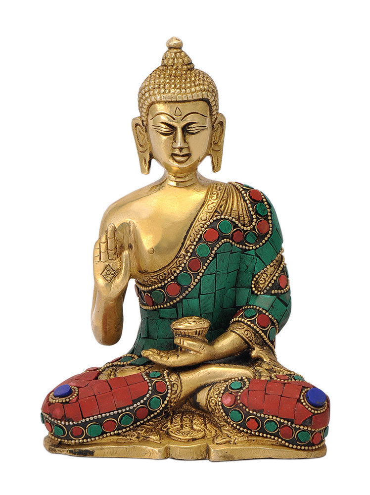 Hand Crafted Buddha with Colored Mosaic
