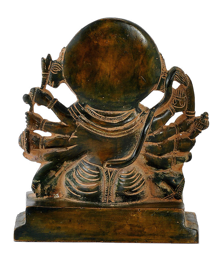 Panchmukhi Hanuman Rustic Finish Brass Figurine