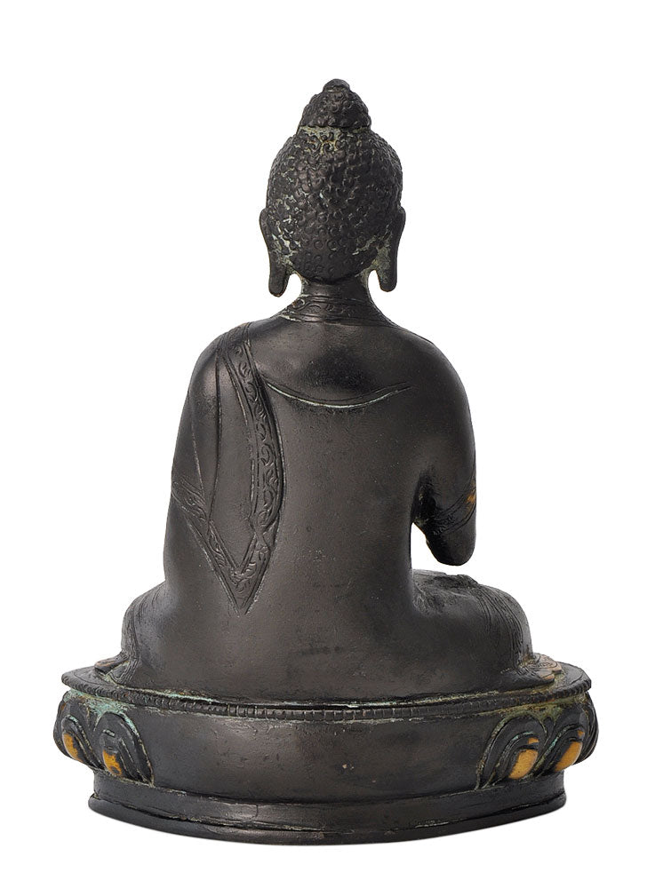 Buddha Brass Statue in Antique Finish